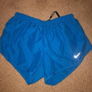 blue nike running shorts